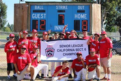section 6 baseball mid city little league 2011 senior baseball section 6