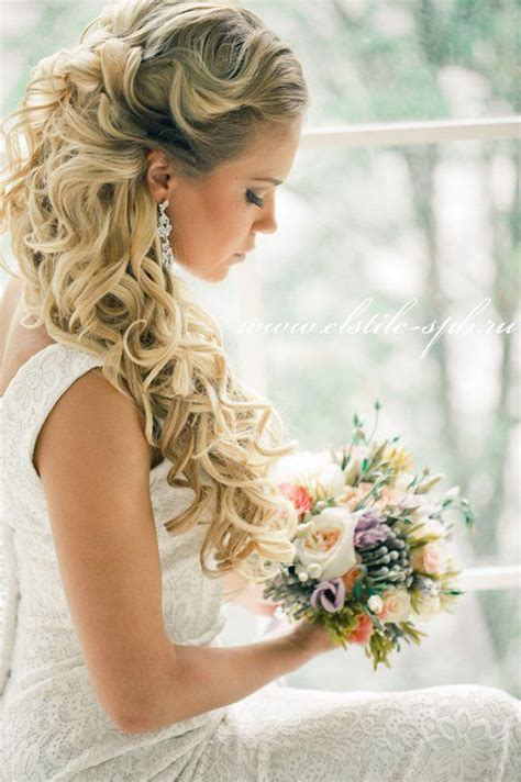 bridal hairstyles magazine loose curls wedding hair belle the magazine