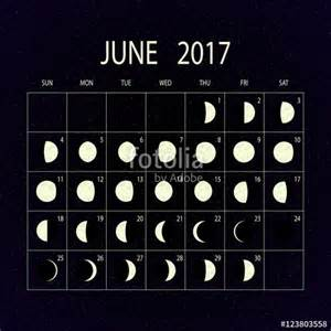 Moon Calendar June 2017 Quot Moon Phases Calendar For 2017 June Vector Illustration