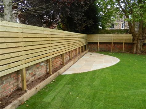 lateral fencing and low maintenance garden olive garden
