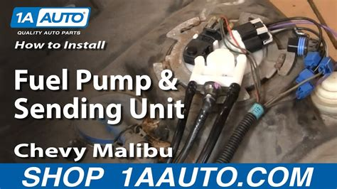 install replace fuel pump  sending unit chevy