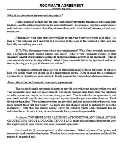 Free Massachusetts Sublease Agreements Pdf Word Doc Roommate Agreement Nyc Template