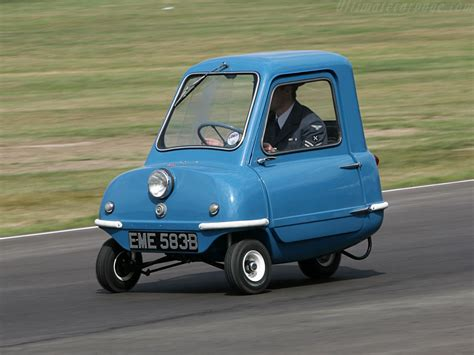 smallest cars watch a peel p50 turn around inside a ford transit van
