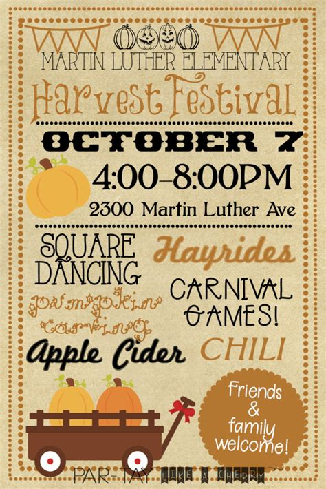 Harvest Festival Invitation Party Like A Cherry Fall Festival Invitation Templates