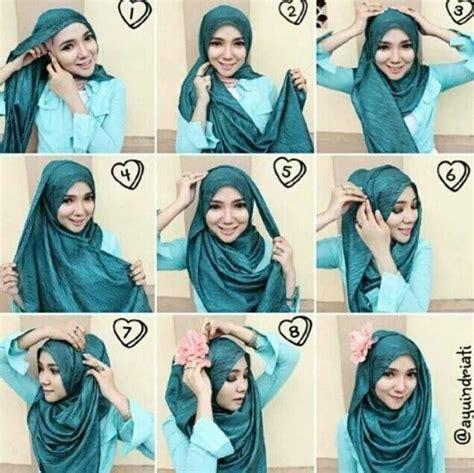 tutorial hijab pashmina kaos syar i tutorial hijab pashmina kaos hijab terbaru fashion dan