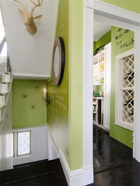 Wooden Door Designs by How To Use Green Successfully In A Hallway