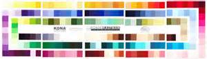 kona cotton color card kona cotton solid color card 243 swatches by by moonafabrics