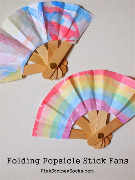 popsicle crafts for make a folding popsicle stick fan creative popsicles