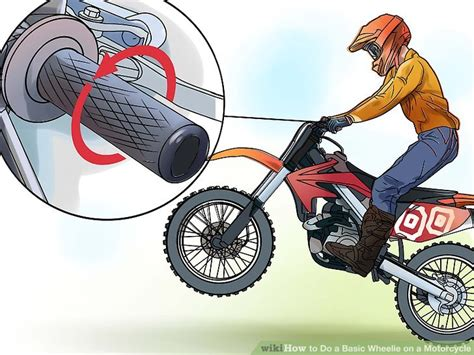 how to wheelie a motocross bike 3 ways to do a basic wheelie on a motorcycle wikihow
