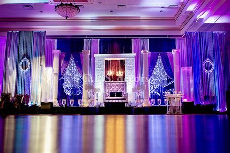Full Hall Drape, Perimeter Up lighting ? Purple & Lilac
