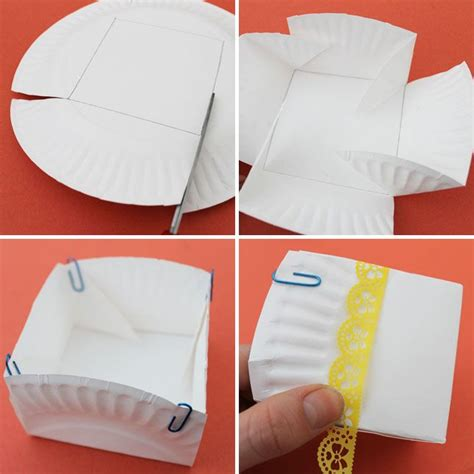 How To Fold A Paper Bowl - 17 best ideas about paper plate basket on