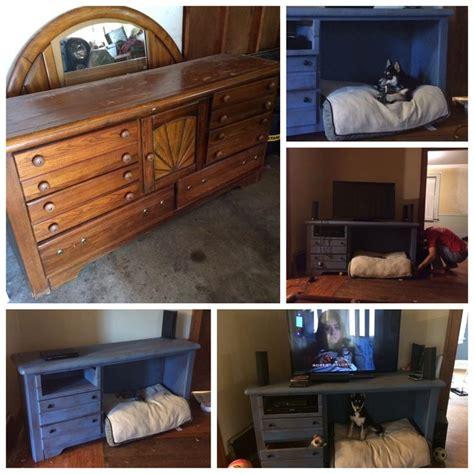 turned   dresser   revamped tv standdog