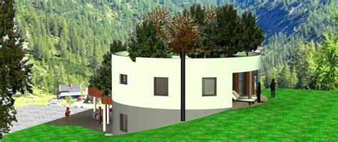 Haus Bauen In Hanglage 4070 by Haus In Hanglage Rundhaus Bau