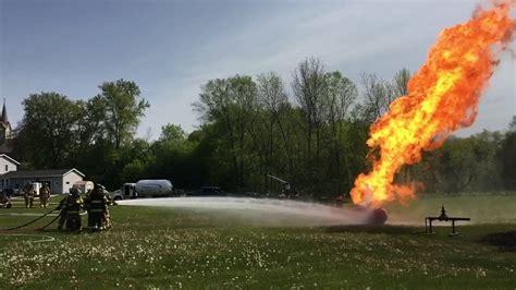 propane tank fire training youtube