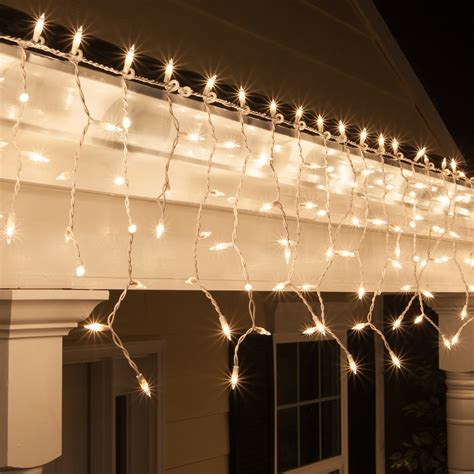 christmas icicle light  clear icicle lights white wire