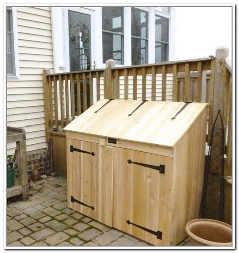 Outdoor Trash Can Storage Cabinet Outdoor