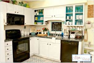 Kitchen Cabinets Open Open Cabinets With White Aqua Lime Green Silver Accents 4 Real