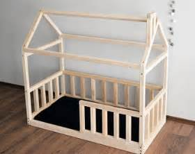 Size Toddler Bed Frame Toddler Bed House Bed Pine Wood Wooden Bed Montessori Bed