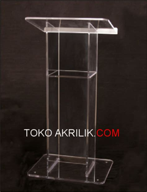 Podium Akrilik Mimbar Akrilik Acrylic Lectern Pd02 our product acrylic akrilik acrylic display harga