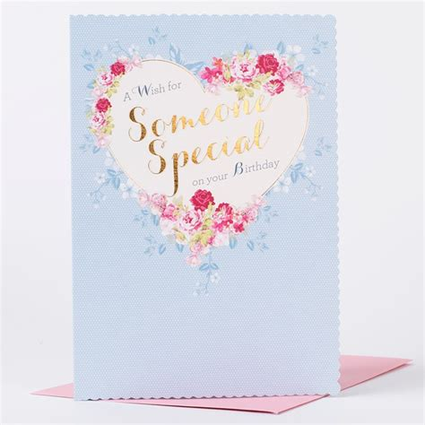 Special Birthday Cards Uk Birthday Card Floral Heart Someone Special Only 99p