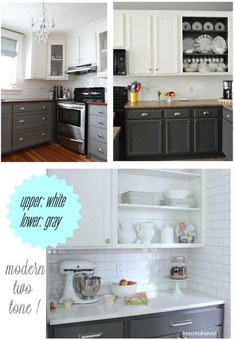 upper kitchen cabinet ideas upper white lower gray kitchen cabinet paint home design