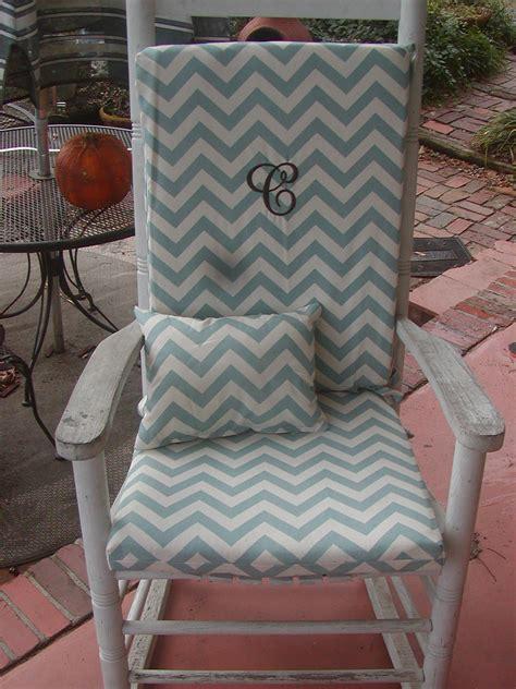 Custom Indoor Chair Cushions - nursery or indoor outdoor custom rocking chair cushions