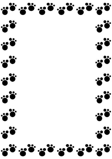 Paw Print Page Border Clip by Paw Print Clipart Border Clipground