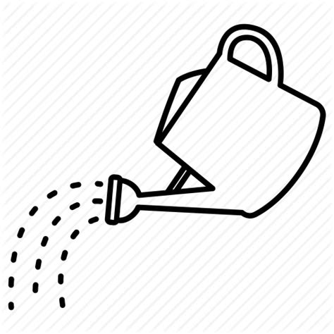 Water Pot Outline by Can Gardening Pot Pouring Sprinkling Water Watering Icon Icon Search Engine