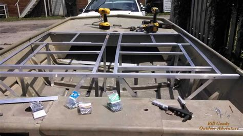 aluminum framing for jon boat deck jon boat deck frame page 6 frame design reviews