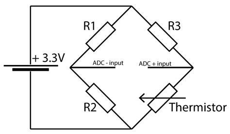 wheatstone bridge ntc thermistor adc differential pi with ntc thermistors