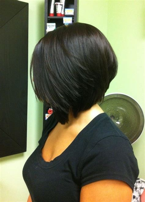 one side stack sassy bob bllack hair 25 best ideas about stacked angled bob on pinterest
