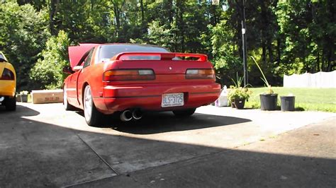 92 nissan 240sx 92 nissan 240sx s13 coupe with dual exhaust without