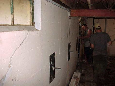 basement wall anchor systems woods basement systems inc foundation repair photo