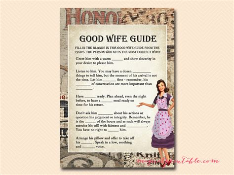 good housewife guide how to be a good wife guide game 1950 s housewife bridal