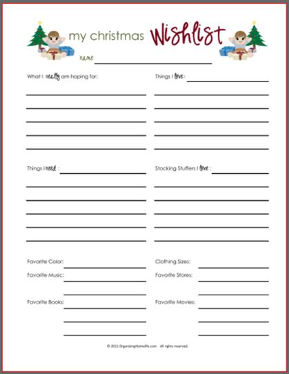 wish list secret santa new calendar template site