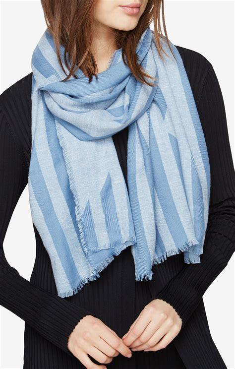 Striped Scarf striped wrap scarf