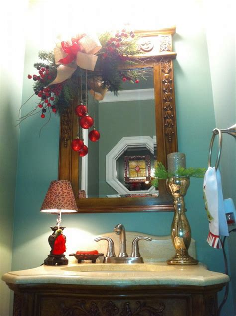 amazing christmas bathroom decoration ideas