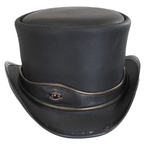 Top Hantshop n home eyeball leather top hat top hats