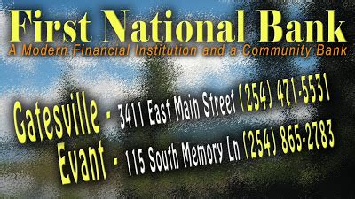 national bank gatesville electronic kiosk services