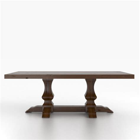 rectangular table with pedestal custom dining furniture
