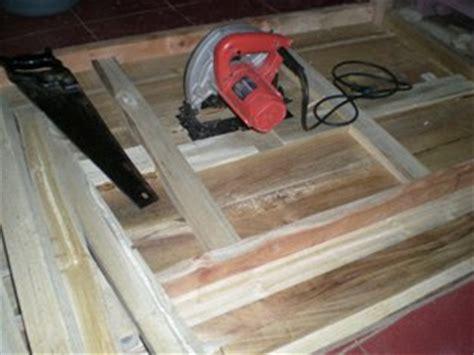 Meja Gergaji Kayu perabot kayu sederhana simply wood furniture meja