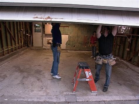 Removing Torsion Garage Door by How To Remove A Garage Door E Removing Standard Garage