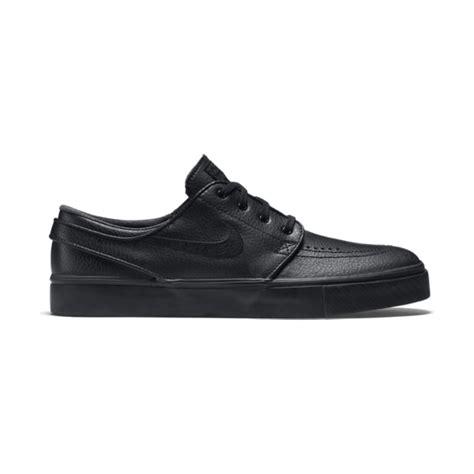 buy nike stefan janoski leather shoes black black anthracite