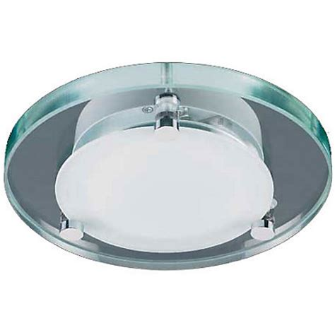 bathroom lights homebase lyme flush light glass