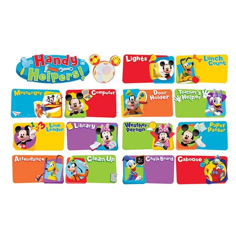 Dr Suess Wall Stickers mickey mouse clubhouse handy helpers job chart mini school