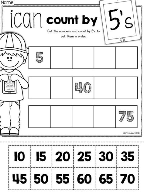 printable math worksheets counting by 5 the ultimate printable math pack kindergarten math