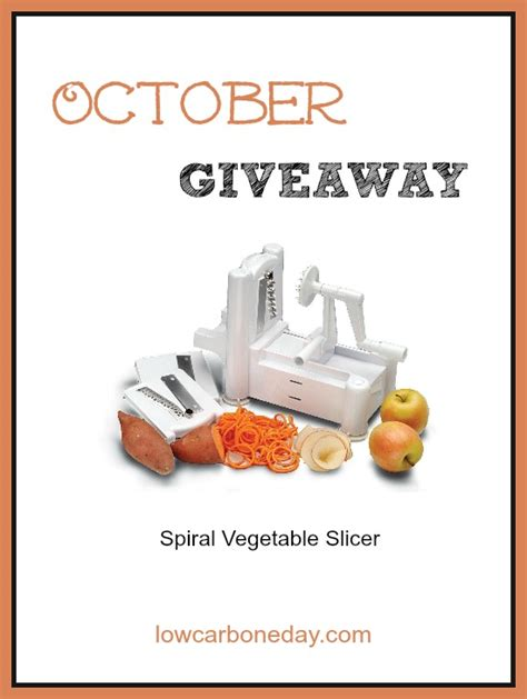 October Giveaway - october giveaway spiral vegetable slicer holistically engineered