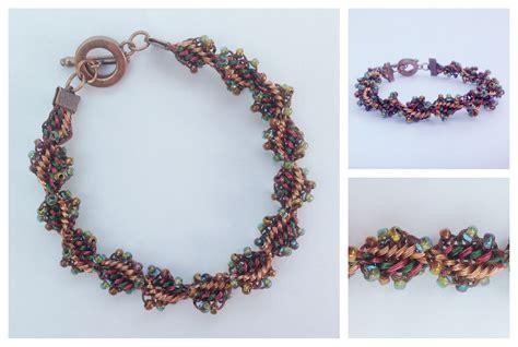 braiding jewelry kumihimo wire bracelet tutorial