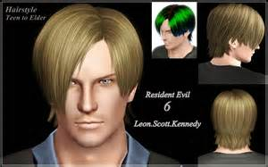 leons kennedy hairstyle for my sims 3 blog resident evil 6 leon scott kennedy hair for males by bucket