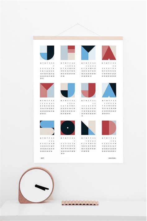 design calendar pinterest 20 modern calendars for 2017 design milk